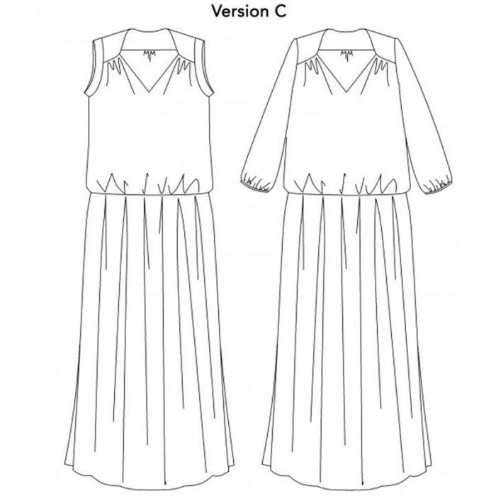 Kit robe Suun - double gaze - P&M (patron + tissus)