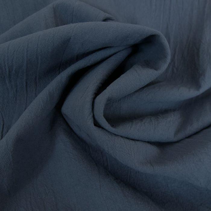 Tissu coton lavé uni - bleu denim x 10 cm