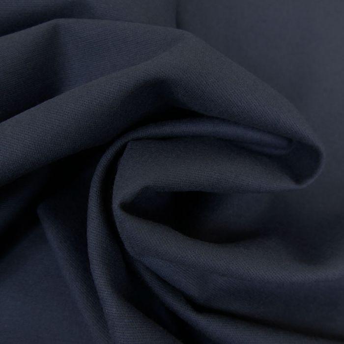 Tissu flanelle coton uni - marine x 10 cm