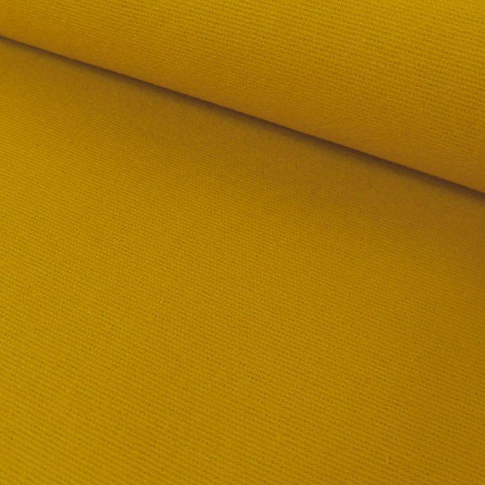 Tissu flanelle coton uni - moutarde x 10 cm