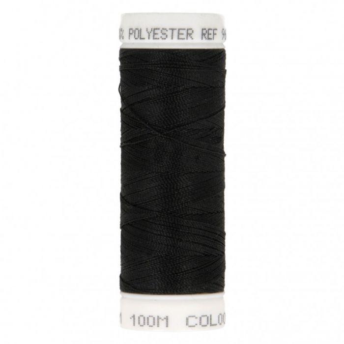 Fil à coudre Noir polyester 100 m