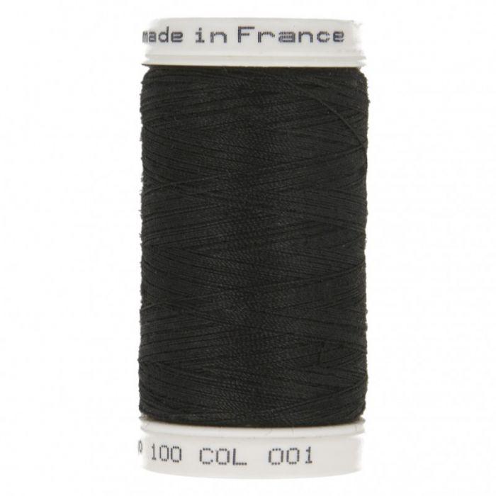 Fil à coudre Noir polyester 500 m