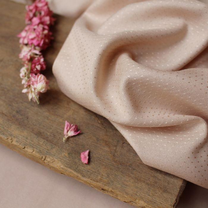 Tissu Dobby Blush - Atelier Brunette x 10 cm