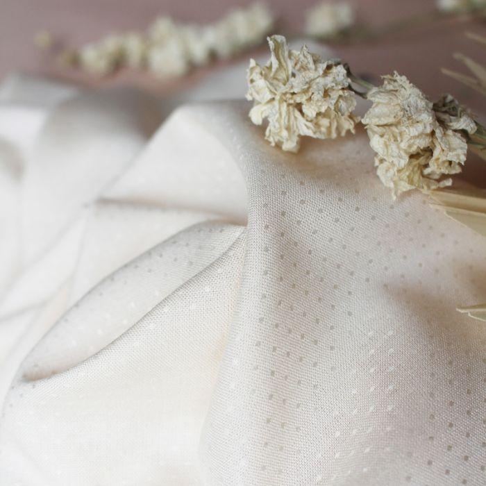 Tissu Dobby Off-White - Atelier Brunette x 10 cm