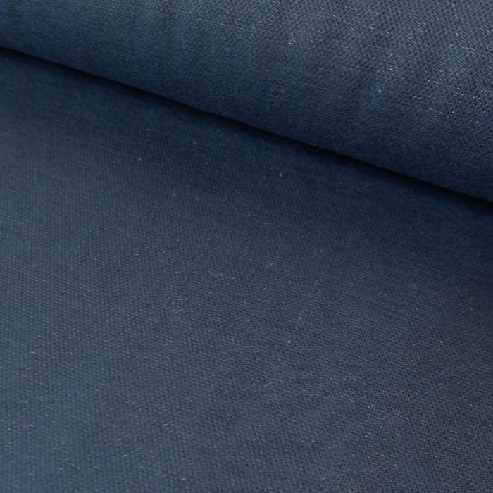 Tissu viscose lurex - bleu jean x 10 cm