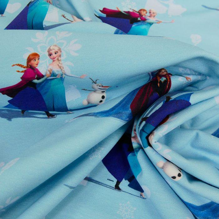 Tissu jersey fin Reine des Neiges x 10 cm