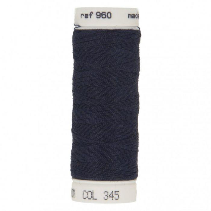 Fil à coudre bleu marine polyester 100 m
