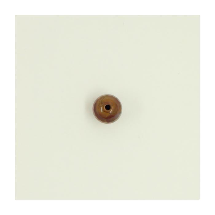 Jaspe rouge : Perle ronde à facettes 6mm x1