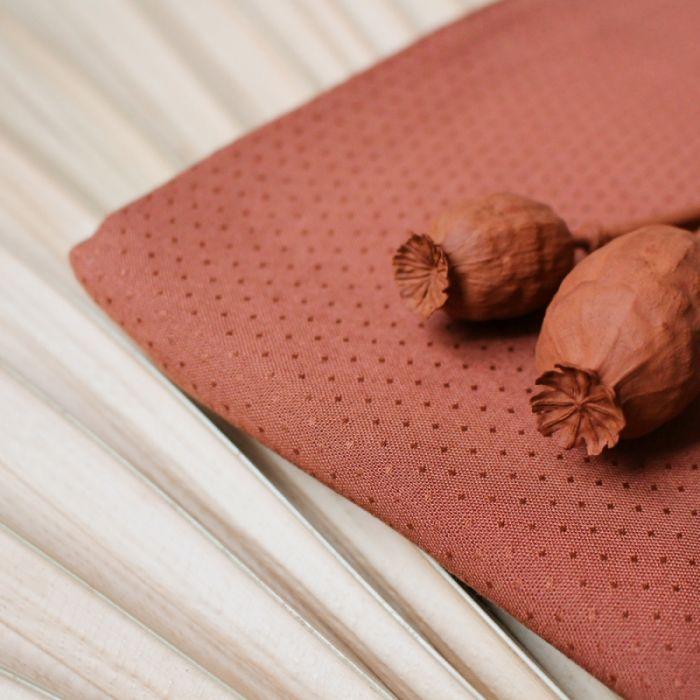 Tissu Dobby Chesnut - Atelier Brunette x 10 cm