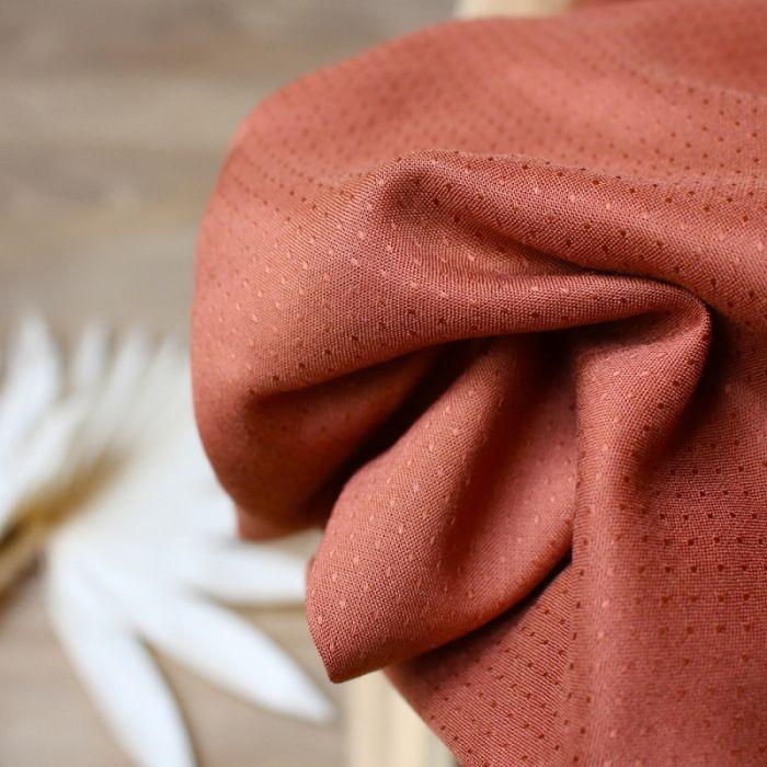 Tissu Dobby Chestnut - Atelier Brunette x 10 cm