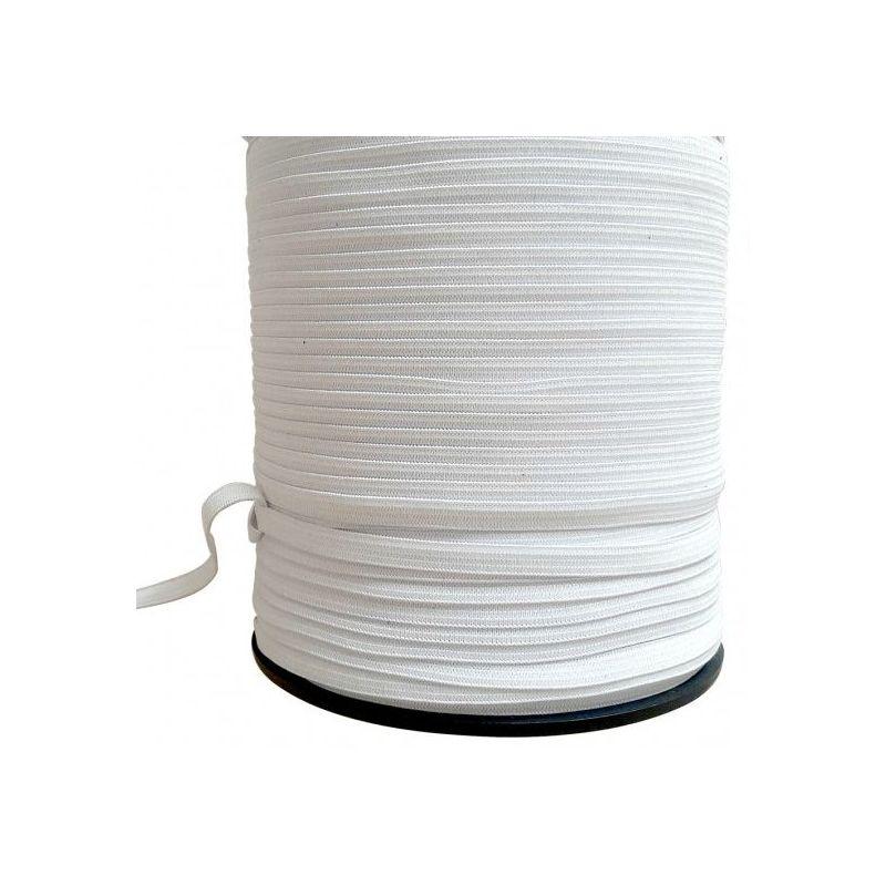 ELASTIQUE COUTURE BLANC 6 mm  plat 6 mm 10 mètres tarif degressif