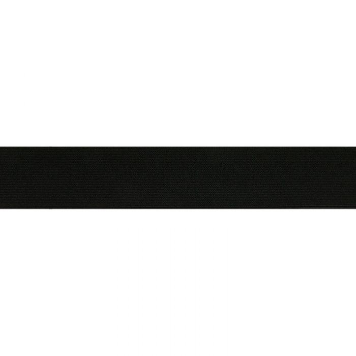 Élastique côtelé noir 8 mm - bobine