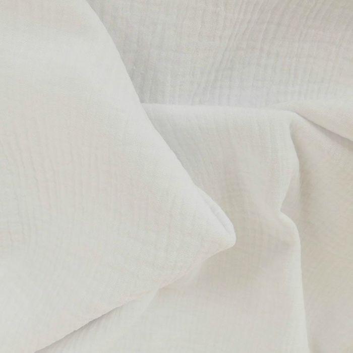 Tissu triple gaze - écru x 10 cm