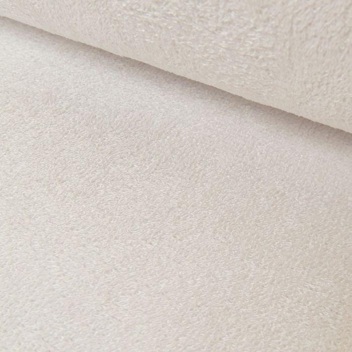 Tissu éponge bambou Oeko-Tex - blanc x 10 cm