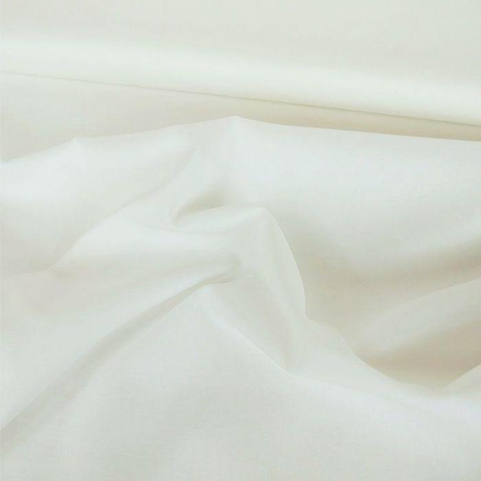Tissu coton antibactérien uni - blanc x 10 cm