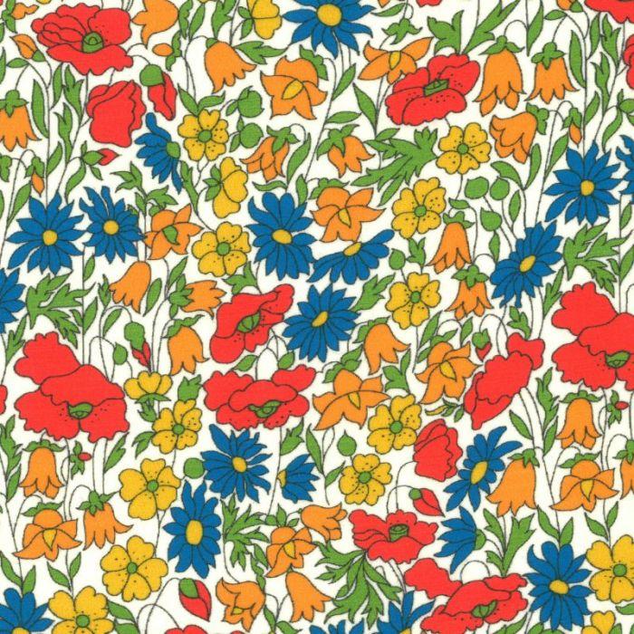 Tissu Liberty of London Poppy and Daisy M x 10 cm