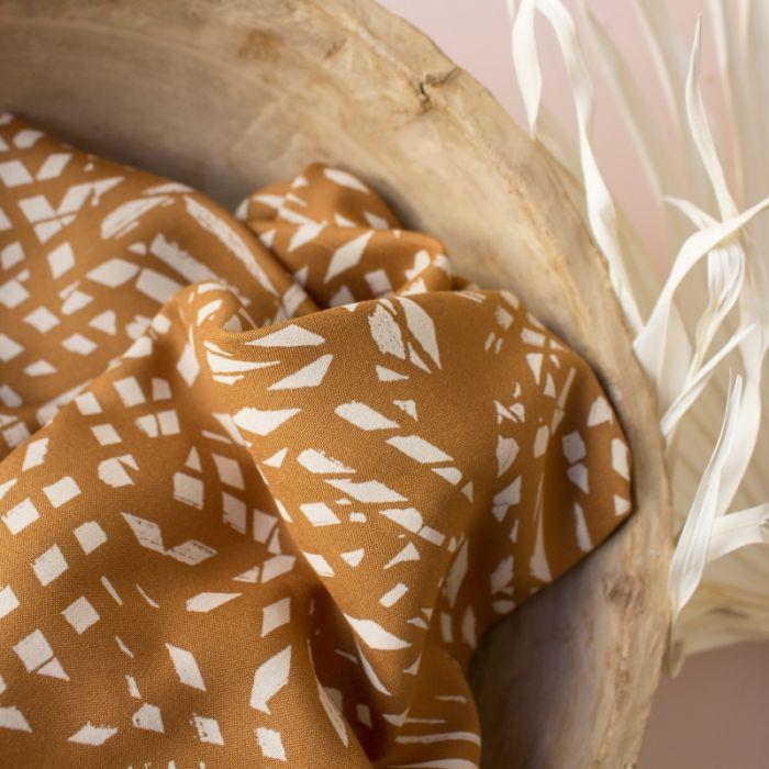 Tissu viscose Shade Ochre - Atelier Brunette x 10 cm