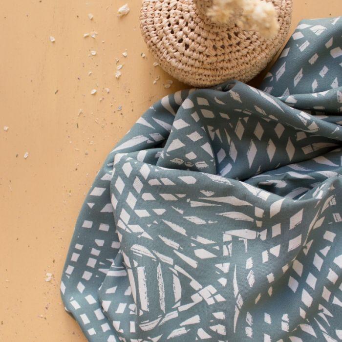 Tissu viscose Shade Cactus - Atelier Brunette x 10 cm