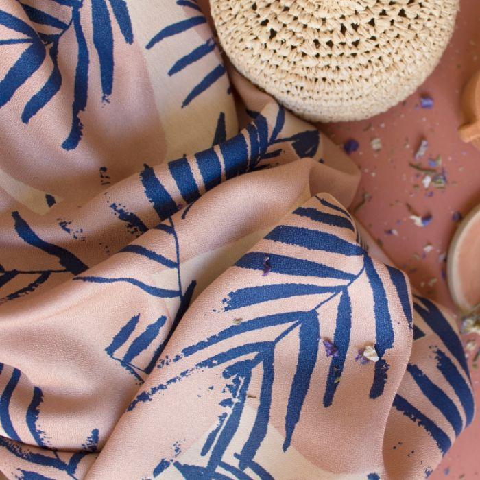 Tissu viscose Canopy Cobalt - Atelier Brunette x 10 cm