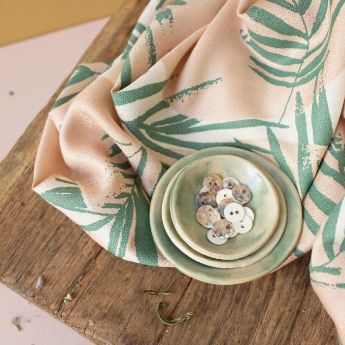 Tissu viscose Canopy cactus - Atelier Brunette x 10 cm