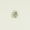 Quartz Mousse : perle briolette goutte plate à facettes 9/12mm x1