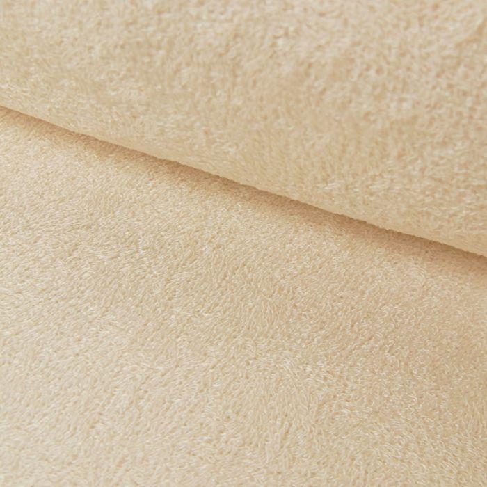 Tissu éponge bambou Oeko-Tex - écru x 10 cm