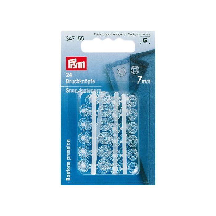 Boutons pression plastique transparent 7 mm - Prym