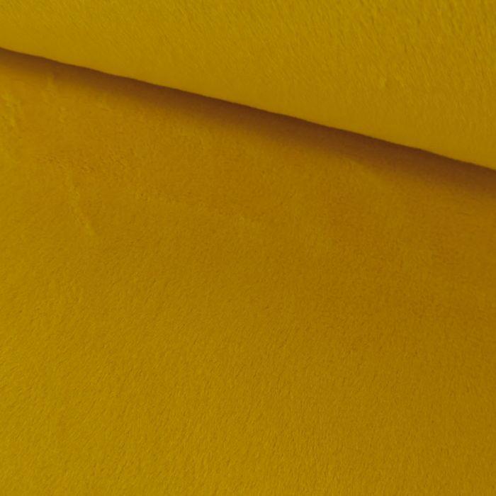 Tissu minky oeko-tex - moutarde x 10 cm