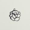 Breloque fleur 14mm argent x1