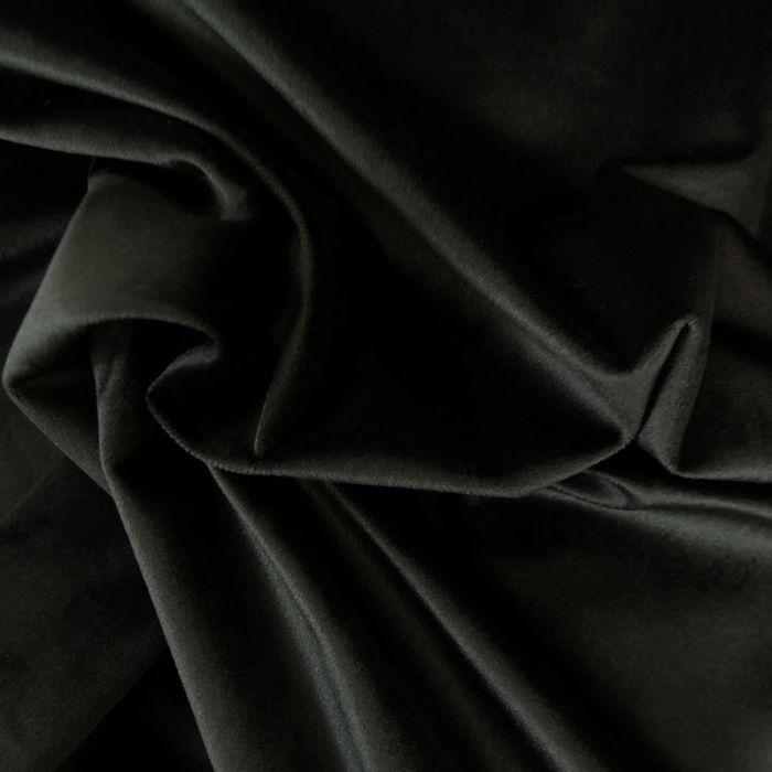 Tissu velours - noir x 10 cm