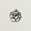 Breloque fleur 14mm cuivre x1