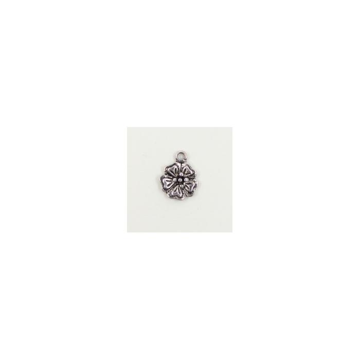 Breloque fleurs 16mm argent x1