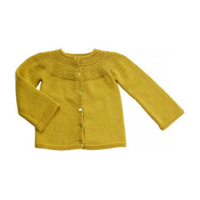 Cardigan à encolure arrondie - les Tricots de Citronille