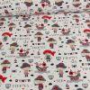 Tissu jersey fin pirates blanc - Poppy x 10 cm
