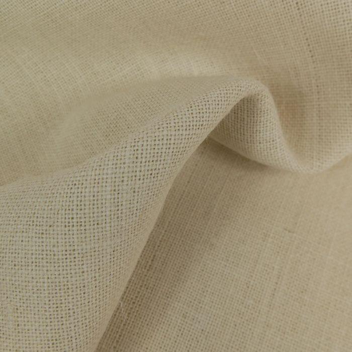 Tissu toile de jute - blanc x 10 cm