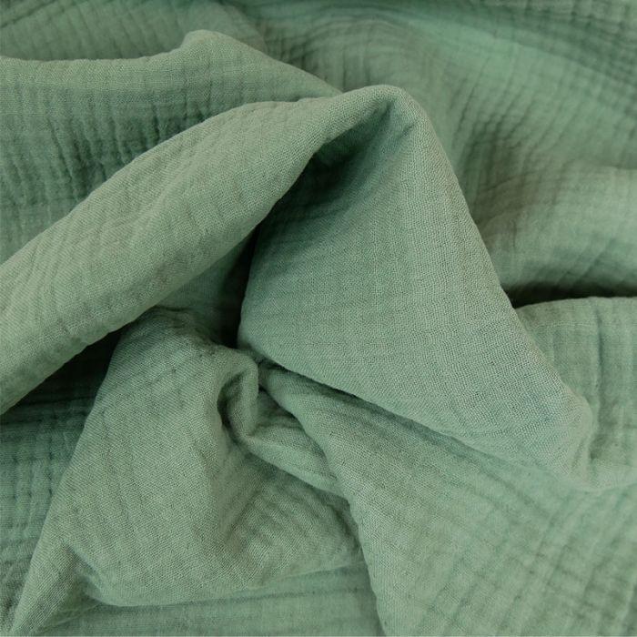 Tissu triple gaze - cactus x 10 cm
