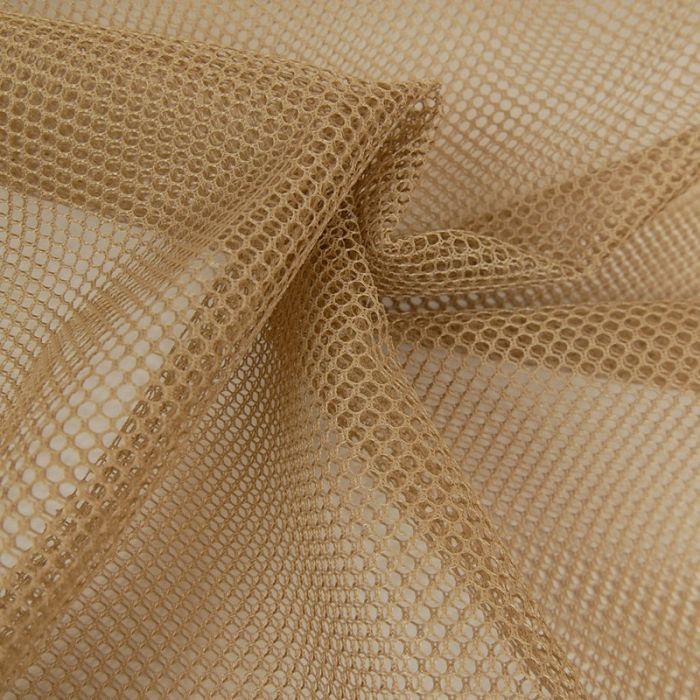 Tissu filet mesh - taupe x 10 cm