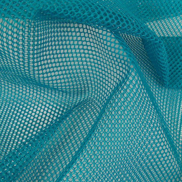 Tissu filet mesh - bleu canard x 10 cm