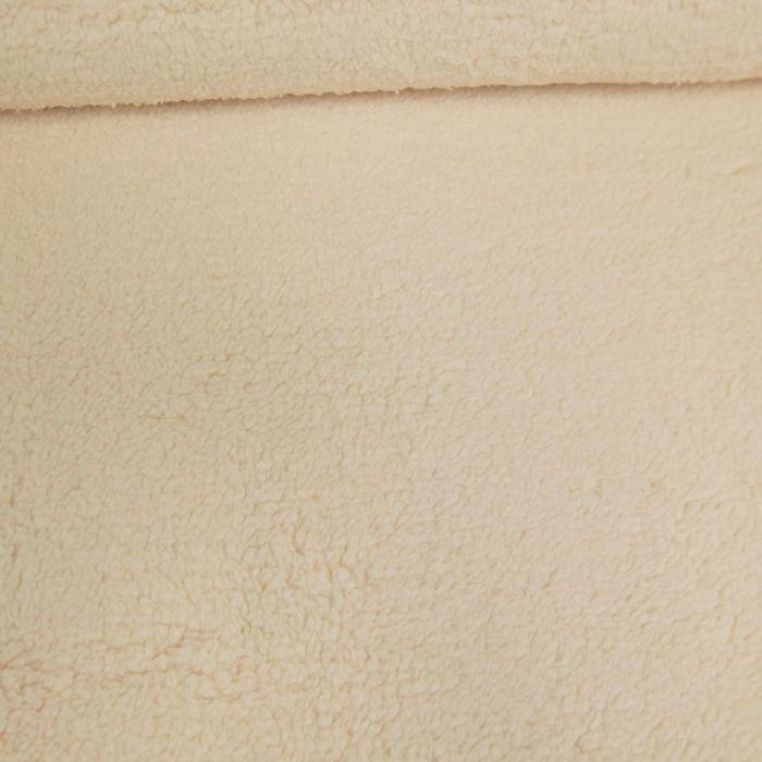 Tissu fausse fourrure peluche - écru x 10 cm