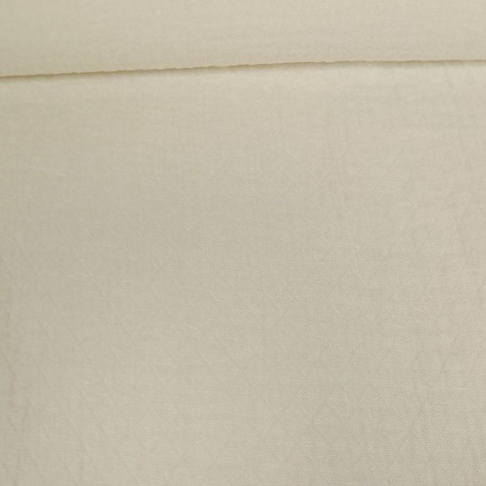 Tissu lin lavé texturé losange blanc - France Duval Stalla x 10 cm