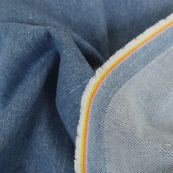 Tissu jean denim - bleu x 10 cm