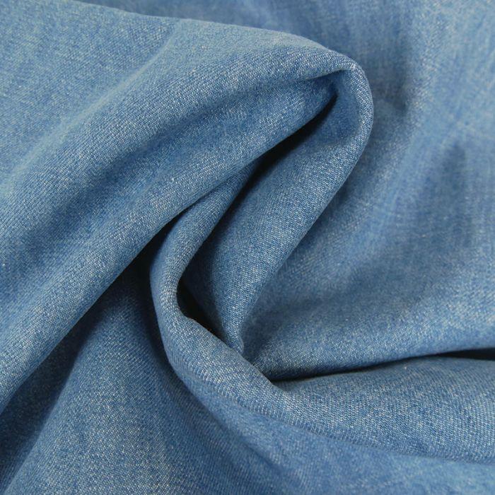 Tissu jean denim - bleu clair x 10 cm
