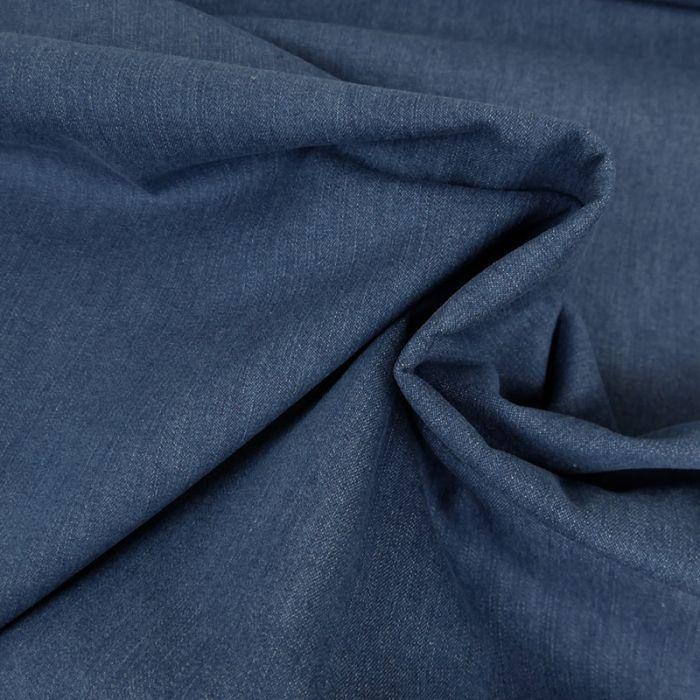 Tissu jean denim élasthanne - bleu x 10 cm