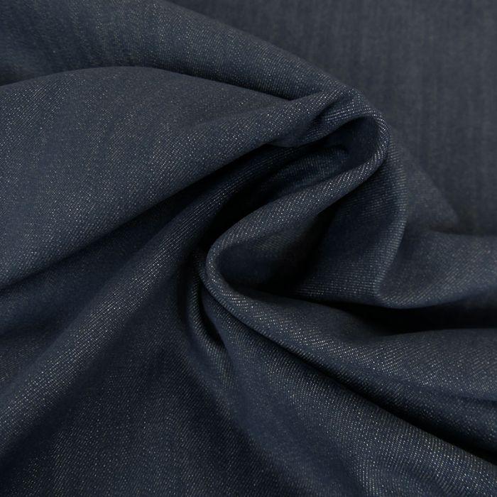 Tissu jean denim élasthanne - bleu foncé x 10 cm