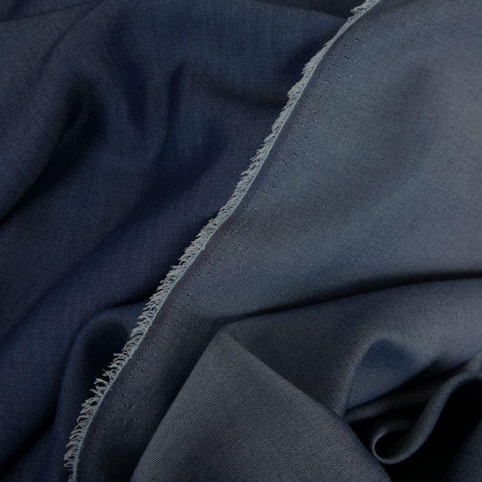 Tissu tencel - bleu jean x 10 cm