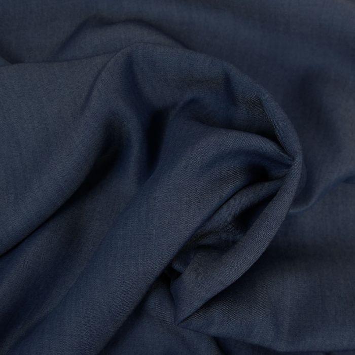Tissu tencel jean - bleu x 10 cm