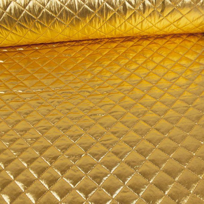 Tissu matelassé holographique - doré x 10 cm