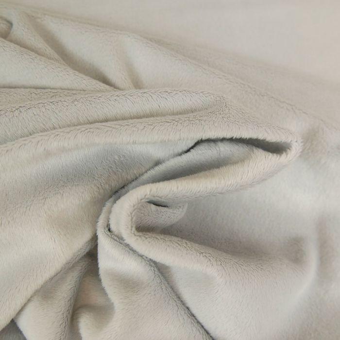 Tissu minky oeko-tex - gris x 10 cm