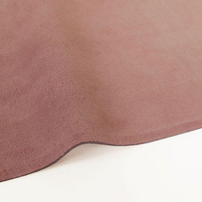 Coupon de croûte cuir uni - rose