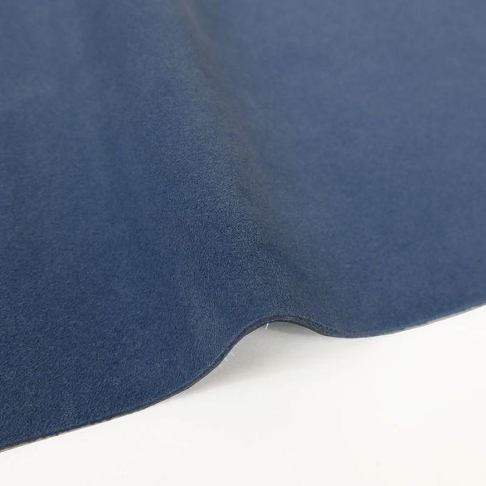 Coupon de croûte cuir uni - bleuet